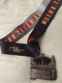 A huge weighty medal for the Wellington Tri, I'm so proud of this one.